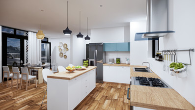 Kitchen Isange estate Kigali