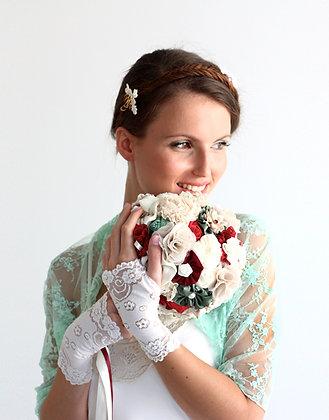Mint bridal shrug