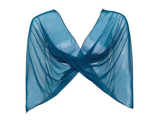 Dark Teal sheer shawl