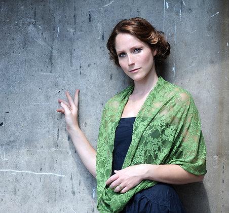 Green lace shawl, Classic lace