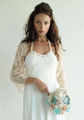 Champagne bridal shawl