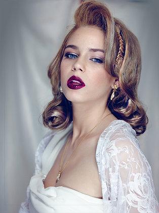 White bridal shawl, Roses lace