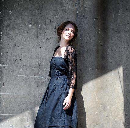 Black shawl, Classic lace
