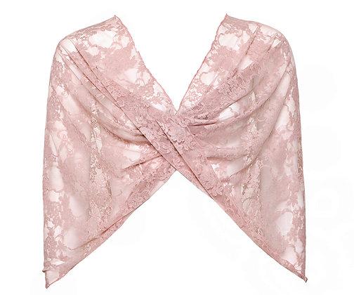 Pink lace shawl