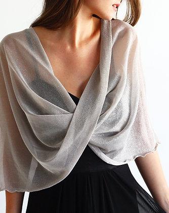 Silver shimmery shawl