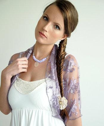 Lilac shawl delicate lace