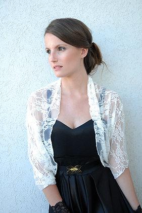 Ivory shawl/ shrug, classic lace