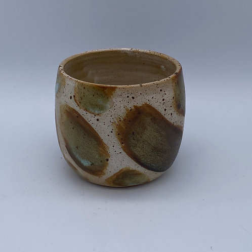 Brown speckled pebble dram cup