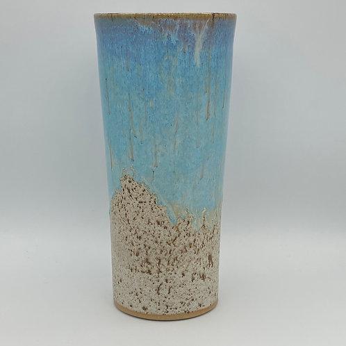 Norse blue drip vase