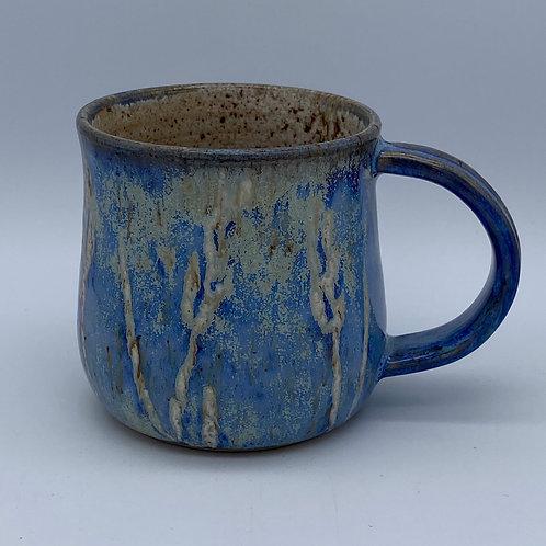 Capri blue leaf and flower mug