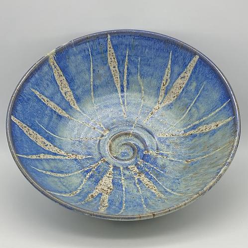 Large capri blue bowl