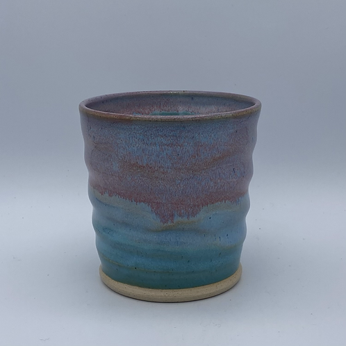 Pink and blue gin cup