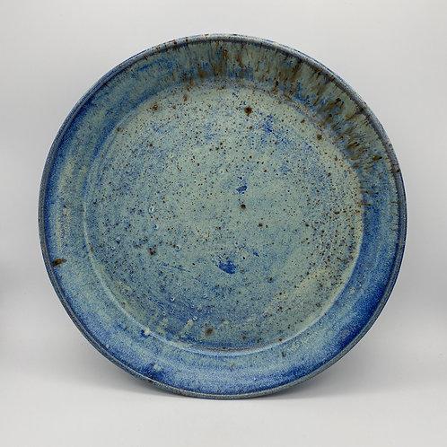 Capri blue round serving tray