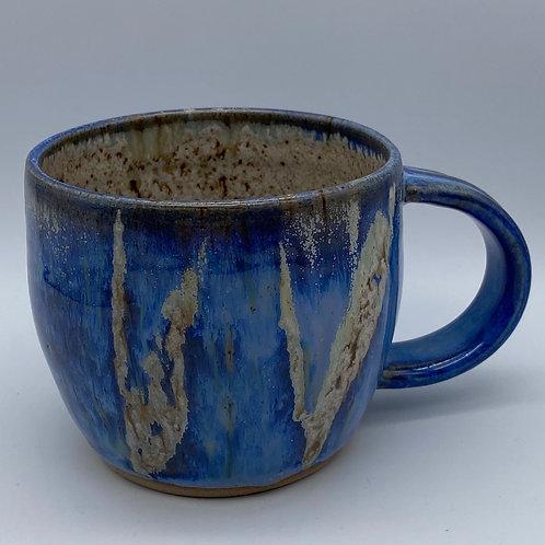Capri blue leaf mug
