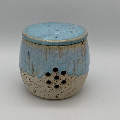 Norse blue Garlic pot