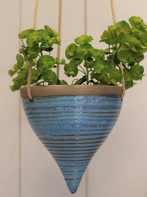 Blue Hanging Planter 3