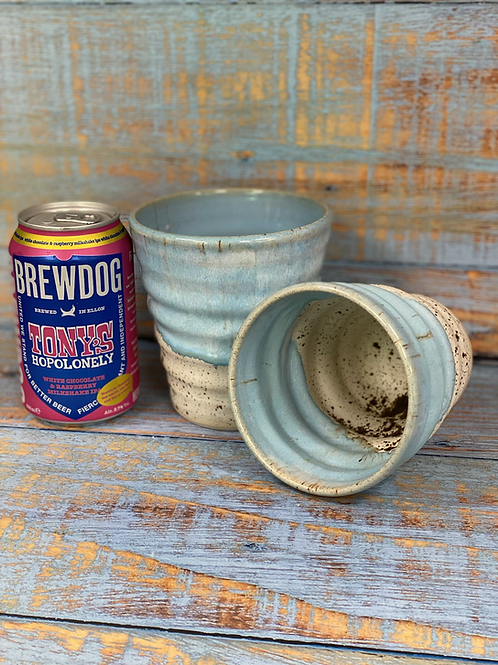 Norse blue beer cup