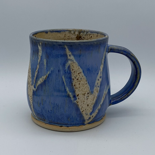 Capri blue leaf mug