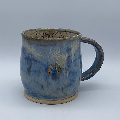 Lavender heart mug