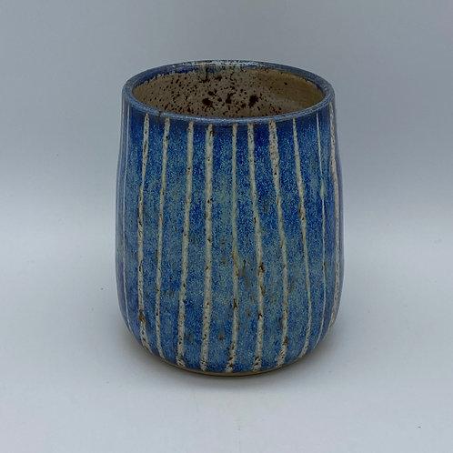 Capri blue striped gin cup