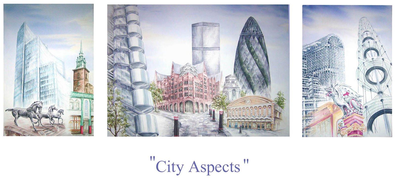 City aspects tryptch
