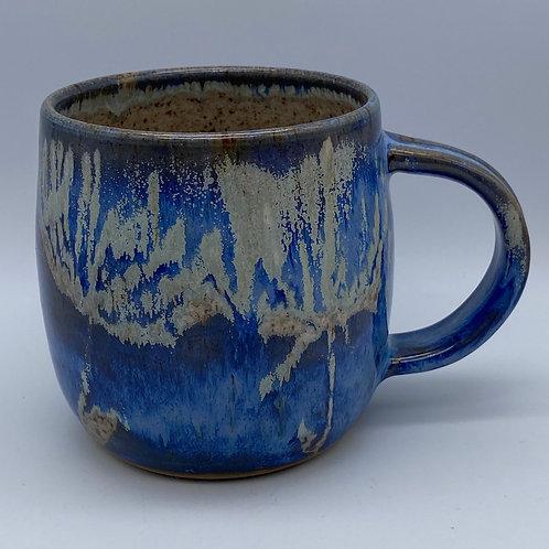Capri blue flower mug