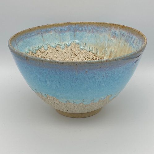 Large norse blue drip bowl