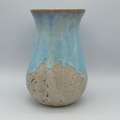 Norse blue drip round vase