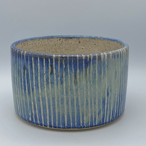 Capri blue stripe planter