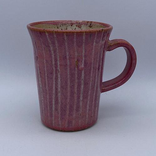 Pink striped mug