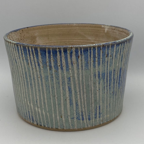 Capri blue stripe planter