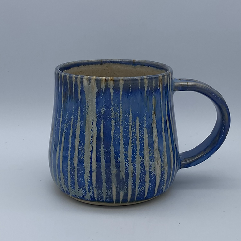 Capri blue striped mug