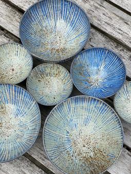 Capri stripe bowls