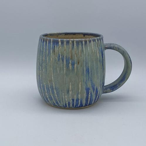 Capri blue striped mug