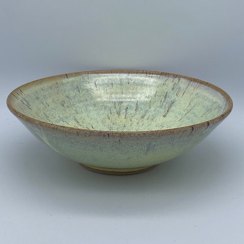 Shallow yellow bowl
