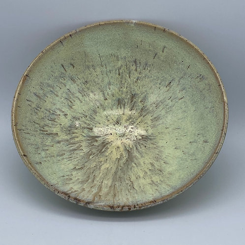 Shallow yellow bowl