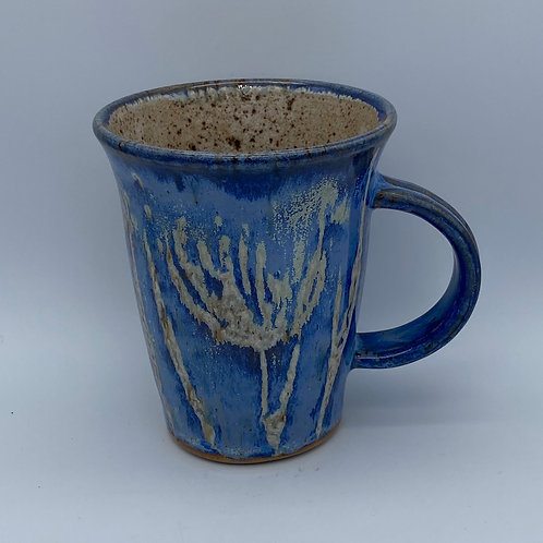 Capri blue flower mug