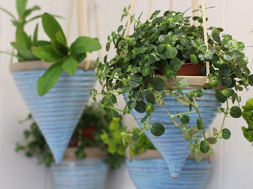 Blue Hanging Planter