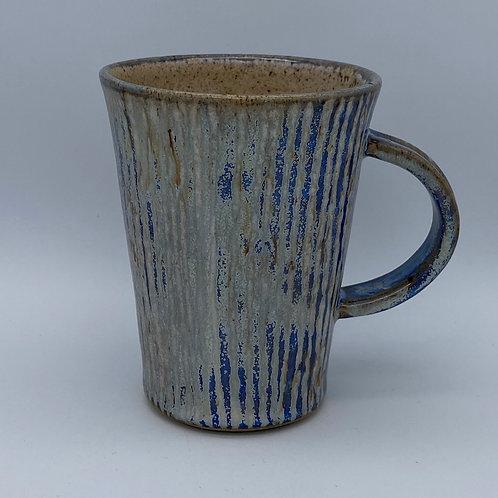 Capri blue stripe mug