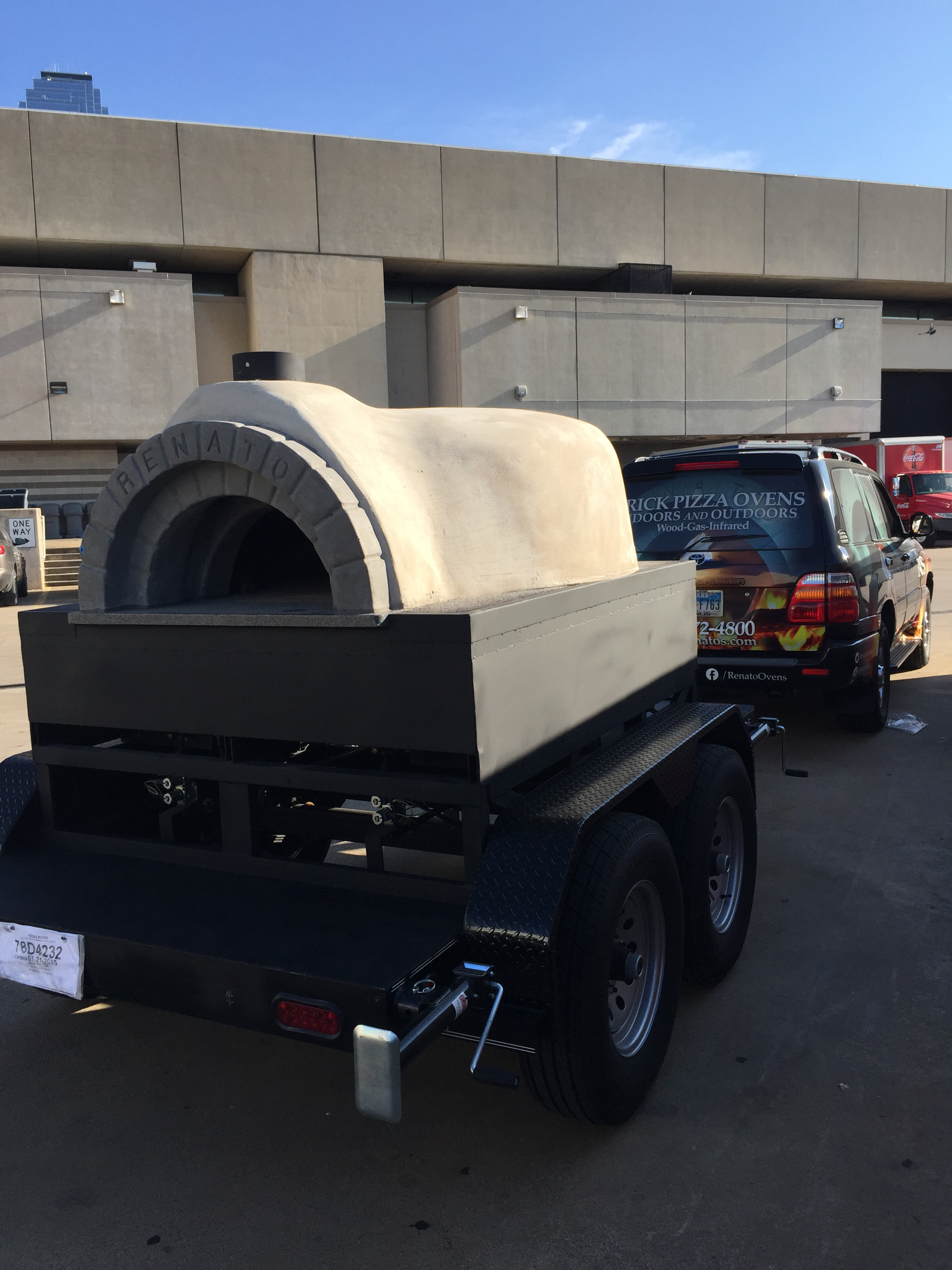 Mobile Brick Pizza Oven on Trailer