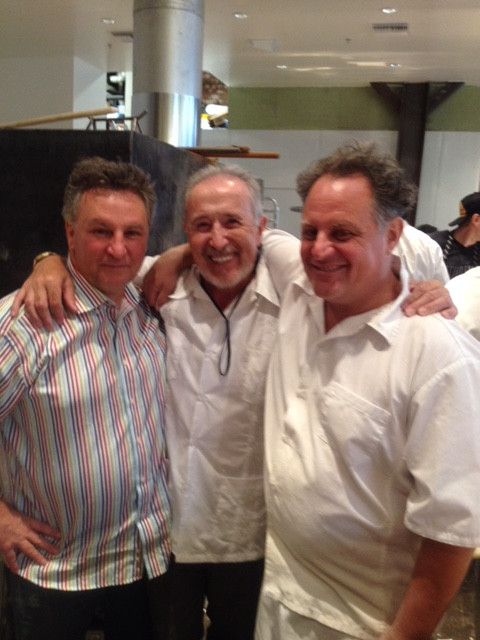 Chris and Marco Bianco (left and right) with Renato (middle)