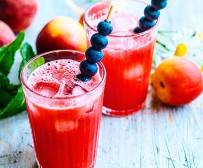 Watermelon Mojito Recipe with Berry Skewers