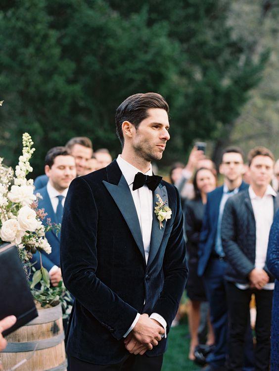 winter wedding velvet suit