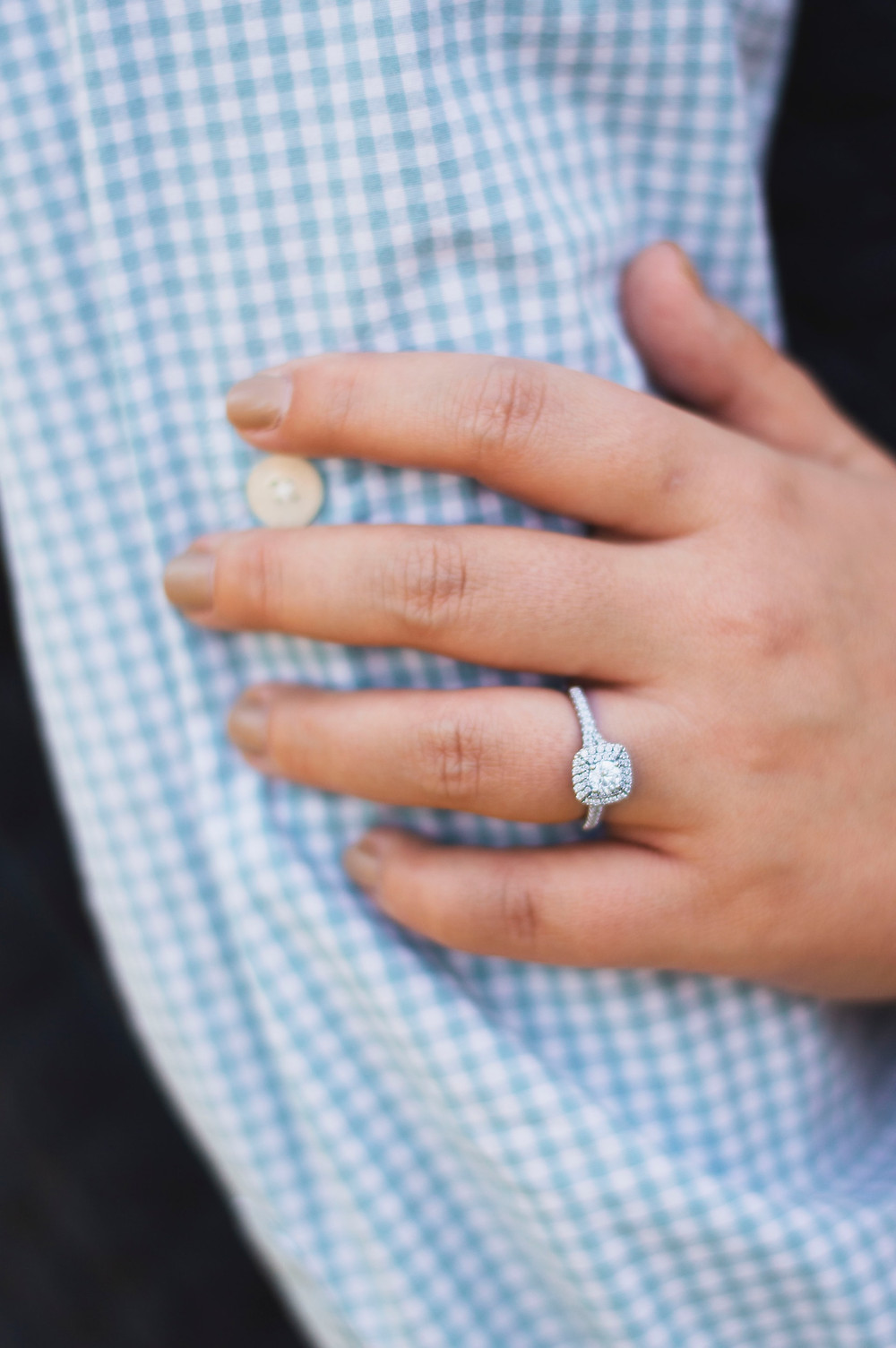 sparkling engagement ring