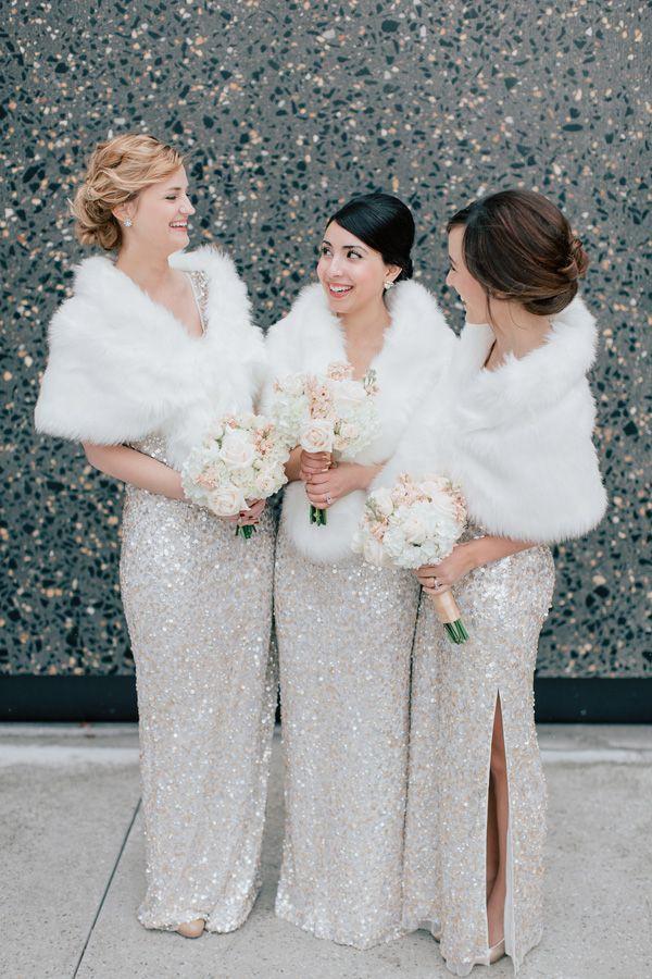 glitter winter wedding ideas