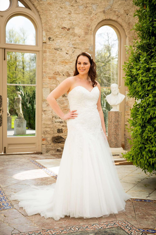 curvy wedding dress strapless