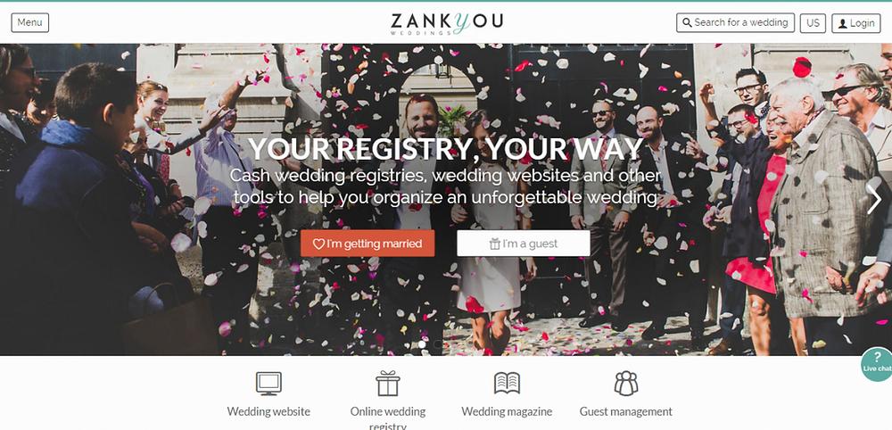 zankyou wedding website