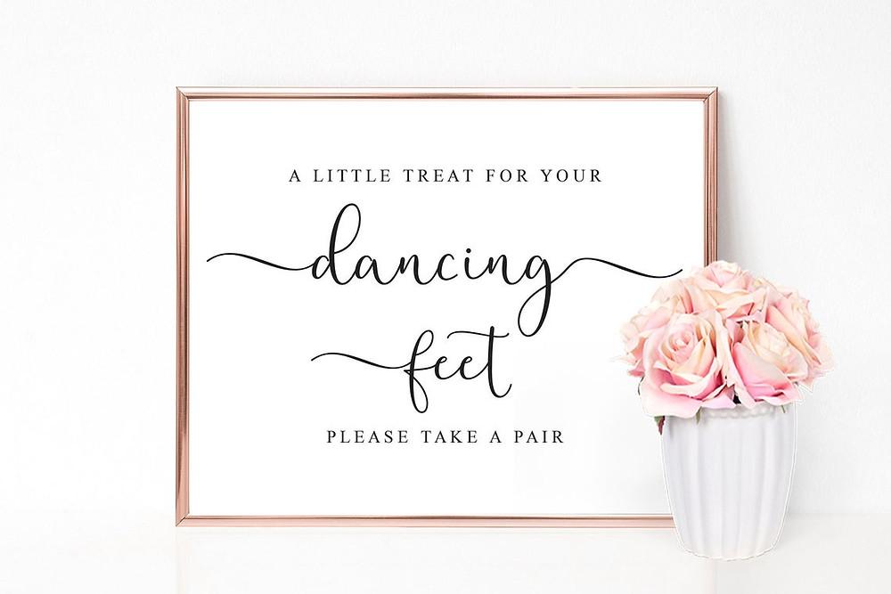 flip flops wedding sign