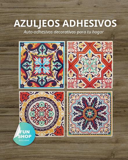 Azulejos adhesivos 13x13cm / 4 Diseños variados