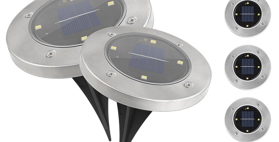 Foco solar embutido 4LED
